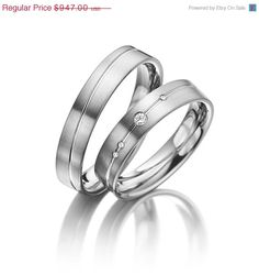ON SALE His and Her Wedding Ring Sets With by FirstClassJewelry