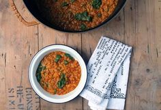 This quick and flavourful red lentil dahl is a great vegan midweek meal or alternative homemade curry that can be on the table in 30 minutes.
