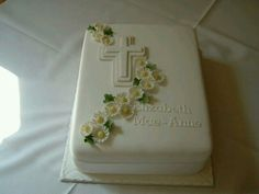 Liking the Cross Baptism Sheet Cake, Funeral Cake, Christian Cakes, Baby Shower Cake Designs, Bible Cake, First Holy Communion Cake, Slab Cake, Religious Cakes, Confirmation Cakes