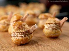 Choux fourrés à la mousse de foie gras  #foiegras