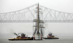 Coming into New Orleans for the beginning of OpSail 2012.   .  She'll be here in Norfolk in a few weeks - looking forward to being the lead liaison for the ship to Hampton Roads!  .