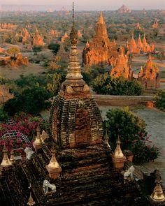 Sunrise from Dhammayazaka Zedi  Bagan, Myanmar (Burma)