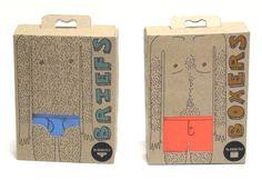 The Average Fella by Ellie King via Behance Cool Packaging, Packaging Design, Packaging Ideas, Ellie King, Underwear Packaging, Clothing Tags, Tag Design, Men's Underwear, Creative