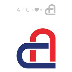 a c initials used to create a heart shape by crazypyxl studios via behance