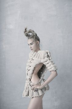 Amazing 3D structured knits - textiles & fashion construction