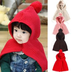These are GENIUS! Product Features: - Stylish warm hat shawl for baby kids. - My best baby products list Kids Winter Hats, Knit Crochet, Crochet Hats, Baby List, Stylish Kids, Knitting Patterns, Knitting Ideas, Keep Warm, Indie Brands