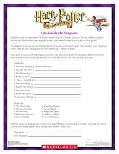 Camp Games and Activities Harry Potter Classes, Harry Potter Activities, Harry Potter Marathon, Harry Potter School, Harry Potter Games, Harry Potter Classroom, Harry Potter Printables, Theme Harry Potter, Harry Potter Halloween