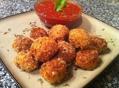Low Carb Fried Mozzarella Balls - Low Carb | Peace Love and Low Carb-take out the panko for GF