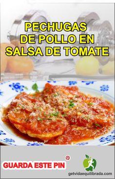 #PECHUGAS_DE_POLLO EN #SALSA DE #TOMATE#pechugas#pollo#recetas#comida#platos#delicias#recetas_fáciles Meat, Chicken, Food, Dishes, Lunches, Balanced Life, Places, Essen, Meals