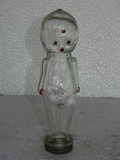 Vintage Doll / Baby Shape Candy Glass Bottle, Collectible