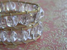 Melting ice in the summer sun double wrap bracelet