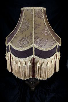 LARGE VICTORIAN LAMPSHADE lamp shade Gold by WonderlandLighting