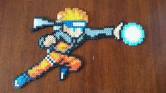 Naruto with rasengan perler beads by Ziano87 on deviantART