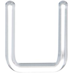 Septum Retainer 14 Gauge Clear Borosilicate Glass | Body Candy Body Jewelry