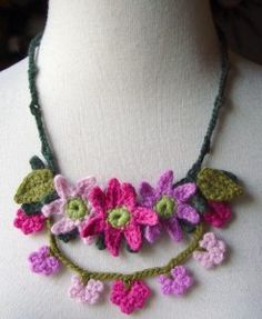 _Crochet_Pink_Mix_Necklace_by_meekssandygirl