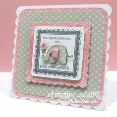 Creating with Christine: Dotty For You - Baby Girl Card