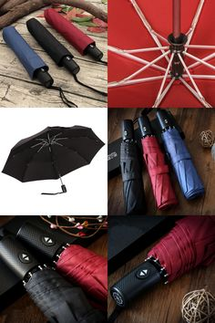 [Visit to Buy] 2017Men's Nylon Automatic Umbrella Business Brand Folding Windproof Black ABS Handle Rain Gear paraguas Free Shipping #Advertisement