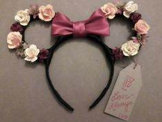 Minnie Mouse Floral Ear Headband.