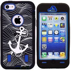 WwWSuppliers Marine Anchor Protector Case for Apple iPhone 5 5S Blue Black & White Shockproof AntiShock Anti-Slip Bow Strong Protective Skin Dual Layer Heavy Duty Non Slip 2 in 1 Silicone Rubber Gel & Slim Thin Hard Cover with Anti-Bubble Screen Protector& Stylus WwWSuppliers http://www.amazon.com/dp/B00NX50BTE/ref=cm_sw_r_pi_dp_DqDvwb1EBC4PJ
