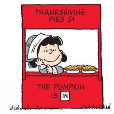 Marmont Hill Thanksgiving Pies Peanuts Print on Canvas, Size: 24 inch x 24 inch, Multicolor