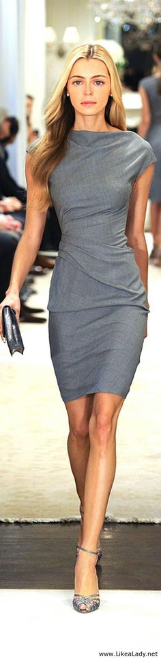 """Simple grey dress""? Oh, no, my friend. Not simple at all. Levels on levels of complexity."