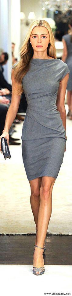 Simple grey dress for ladies - Nice