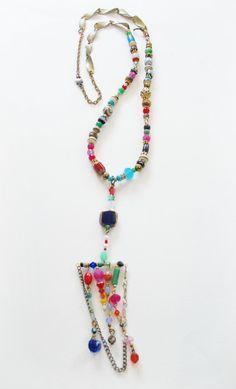 Daria Boho Gypsy Colorful Bar Tassel Beaded door MicciCohanNYC