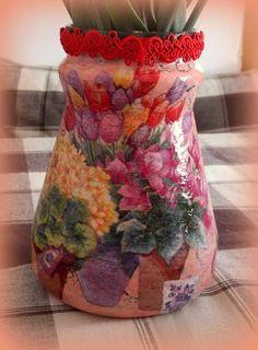 Spring Vase - Decoupage