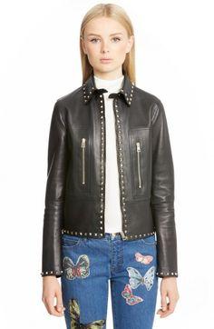 Valentino Women's Rockstud Leather Jacket | Coat, Jacket and Clothing