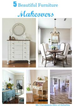 "5 Beautiful Furniture Makeovers "" Noting Grace did a fabulous job at transforming her farmhouse table and giving it that grey wash look that is so popular right now."""