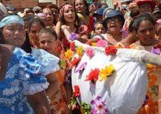 baile tradiconal de carnaval,llamada la hamaca,del sector san millan.puerto cabello.venezuela