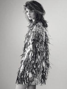 TINSEL COAT!!!! sparkling jacket silver fringe Amazebob!