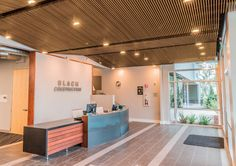 Armstrong Ceilings | WoodWorks grille Tegular suspended ceiling | Blach Headquarters San Jose, CA