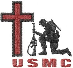 Machine Embroidery Designs Embroidery Design: USMC Soldier 2.03 inches H x 2.16 inches W