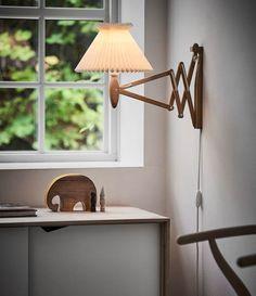 Le Klint Sax Wall Lamp | LampTwist Plug In Wall Lamp, Wall Lamps, Nordic Home, Light Oak, Light Bulb, Ceiling Light Fixtures, Fabric Shades, Home Interior, Lamp Design