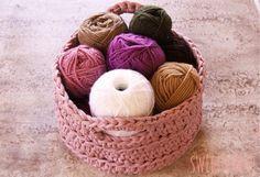 Sweet&Knit: Cesta de ganchillo XXL