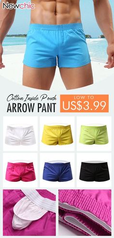 1c97f77aac Arrow Pants Casual Home Low Waist Cotton Inside Pouch Breathable Boxers for  Men