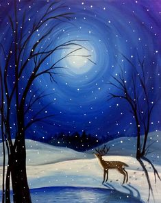 Painting acrylic christmas canvas art Trendy ideas - Photography İdeas,Photography Poses,Photography Nature, and Vintage Photography, Winter Painting, Winter Art, Christmas Paintings On Canvas, Pictures To Paint, Christmas Art, Christmas Ideas, Winter Christmas, Holiday, Acrylic Art