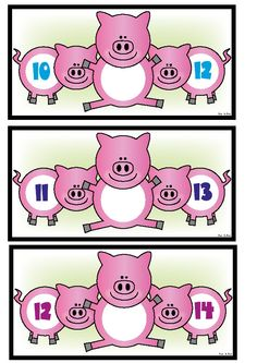 Piggy in the Middle Number Activity Cards $