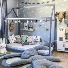 21 Super Cute Floor Bed Designs For Kids Room Decor - Kids Bedroom Boys, Baby Boy Rooms, Kids Rooms, Teen Bedroom, Kid Bedrooms, Room Baby, Baby Boy Bedroom Ideas, Kid Playroom, Small Rooms