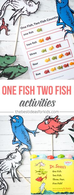 These free printable One Fish Two Fish activities are so fun for kids! Kids can learn counting while reading this Dr Seuss book. via @bestideaskids