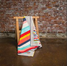 from the blue chair: The Woven quilt from Scraps Inc.