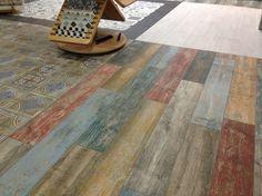 Een schitterende keramische uitvoering van sloophout in het formaat 14.4x89.3 van Vives Ceramica uit Spanje!
