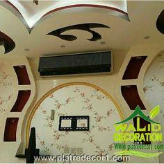 Wall Showcase Design, Tv Unit, Ceiling Design, Led, Bedroom Decor, Rustic, Plasterboard, Tv Walls, Interior