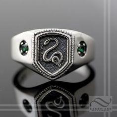 Custom Made Slytherin House Ring, Harry Potter Inspired