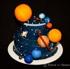 Solar system cake https://bakedinheavenbakery.wordpress.com/category/tiered-cakes/