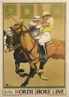 USA Oscar Rabe Hanson (1901-1926) POLO / BY THE NORTH SHORE LINE. 1923.