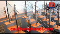 Các mẫu cầu thang inox và cầu thang inox kính mới nhất 2017
