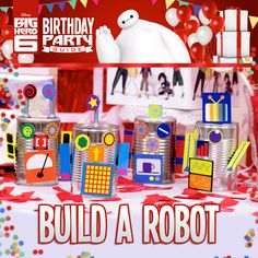Disney's Big Hero 6 Birthday Party Ideas!  Learn how to make a robot in your own lab and build a birthday robot.
