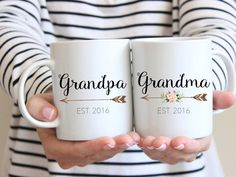 Gift for Grandparents, Mug Set, Couples Mug, Grandma Mug, Grandparent Gift, Pregnancy Reveal Mug, new grandparents, Grandpa mug, by BlueSparrowDesignsCo on Etsy https://www.etsy.com/listing/457641156/gift-for-grandparents-mug-set-couples                                                                                                                                                                                 More